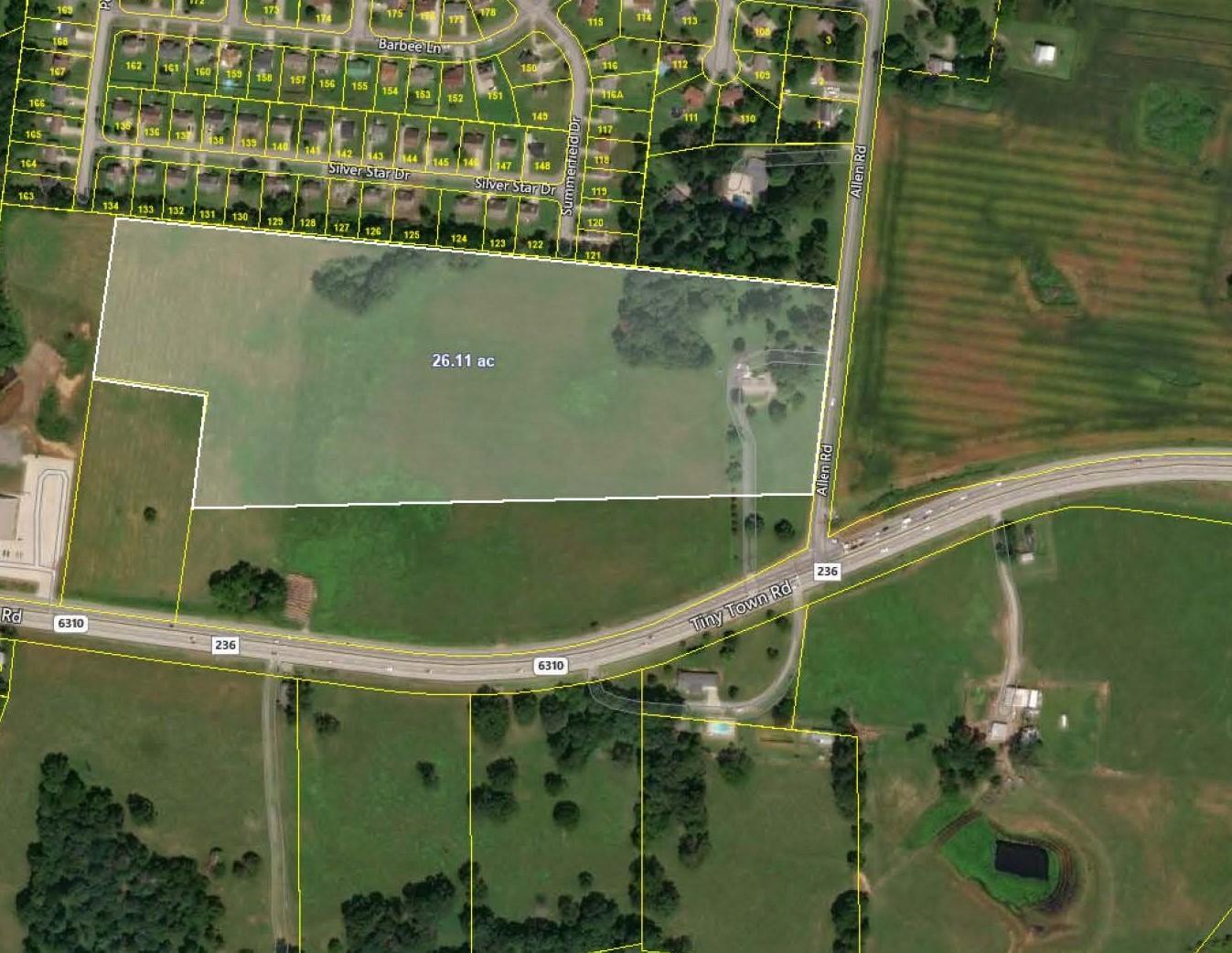 Land for sale – 3326  Allen Rd   Clarksville, TN